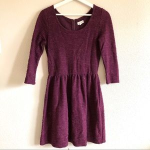 Maison Jules Deep Purple Shimmer Knit Dress